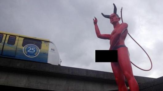 Satan Statue In Vancouver